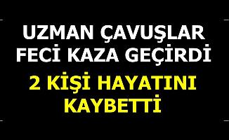Erzincan'da Uzman Çavuşlar Feci Kaza Geçirdi