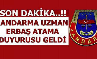 Jandarma'dan Asayiş Uzman Erbaş Atama Duyurusu