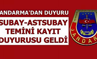 Jandarma'dan Subay-Astsubay Alımı Kayıt Kabul Duyurusu 2019