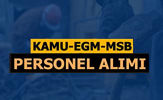 Kamu-EGM-MSB İlan Yayımladı: İŞKUR'da Başvuru Ekranı Açıldı