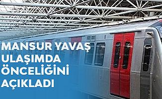 Mansur Yavaş'tan 'Metro' Açıklaması: Önceliğimiz Esenboğa Metrosu Olacak