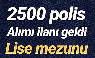 Polis Akademisi 2500 Kadın-erkek polis alımı ilanı geldi-2019 Pmyo lise mezunu polis alımı