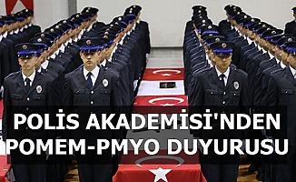 Polis Akademisi'nden POMEM-PMYO Sınav Sonuç Duyurusu