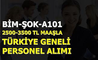 2500-3500 TL Maaş: A101-ŞOK-BİM En Az İlkokul Mezunu Personel Alımı Yapıyor