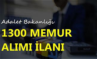 Adalet Bakanlığı 1300 Memur Alımı İlanı DPB'de Yayınlandı 2019