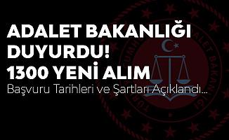 Adalet Bakanlığı Duyurdu! 1300 Yeni Personel Alınacak - Hakim Savcı Alımı Başvuru Şartları Belli Oldu
