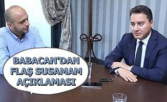 Ali Babacan'dan Flaş Susamam Şarkısı Açıklaması