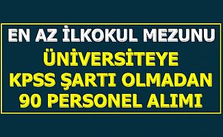 Ankara Hacı Bayram Veli Üniversitesi KPSS'siz 90 Personel Alacak