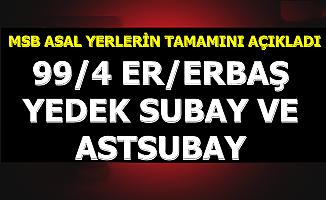 ASAL 99/4 Er/Erbaş, Yedek Subay ve Astsubay Sonuçları Açıklandı (Askerlik Yerlerinin Tamamı Açıklandı E Devlet Girişi)