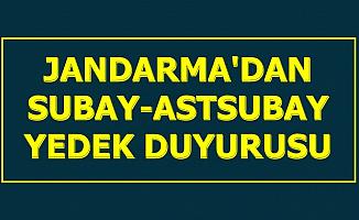 Astsubay ve Subay Alımı Açıklaması Geldi: Jandarma Yedek Duyurusu