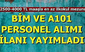 BİM ve A101 İş İlanı Geldi: 2500-4000 TL Maaşla Personel Alımı