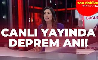CNN Türk Haber Sunucusu Gözde Atasoy Depreme Canlı Yayında Yakalandı! İşte Deprem Anı