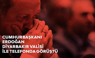 Cumhurbaşkanı Erdoğan Diyarbakır Valisi'ni Arayarak Hain Saldırı Hakkında Bilgi Aldı