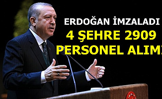 Erdoğan Müjdeyi Verdi: 4 Şehre 2909 Personel Alımı
