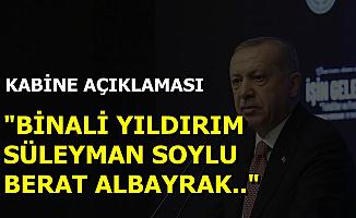 Flaş Açıklamalar: Binali Yıldırım, Süleyman Soylu ve Berat Albayrak Yeni Kabinede..