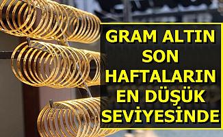 Flaş... Gram Altın Fiyatı Son Haftaların En Düşüğünde