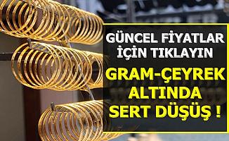 Flaş: Gram ve Çeyrek Altın Fiyatında Sert Düşüş-Son 1.5 Ayın En Düşüğü