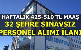 Haftalık 425-510 TL Maaş: İŞKUR'dan Sınavsız Personel Alımı