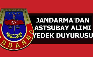 Jandarma'dan 2019 Astsubay Alımı 2. Yedek Duyurusu