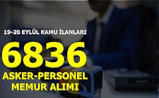 KPSS'siz ve 50 KPSS ile 6 Bin 836 Memur Personel ve Asker Alımı