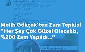 Melih Gökçek'ten Ulaşım Zammına Tepki: Transfer Ücretine Yüzde 200 Zam , Oh Olsun