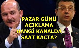 Süleyman Soylu Pazar Günü Saat Kaçta Hangi Kanalda Konuşacak?