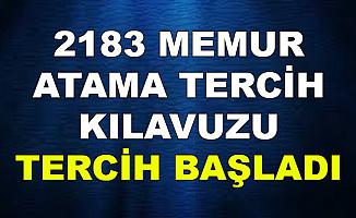2183 Memur Atama Tercih Kılavuzu Yayımlandı