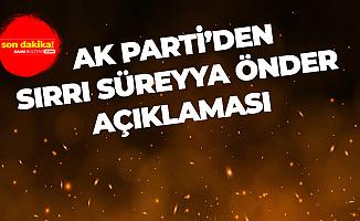 AK Parti'den HDP'li Sırrı Süreyya Önder'in Tahliyesine İlişkin Açıklama