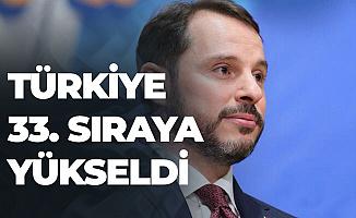 Bakan Bugün Açıkladı: Türkiye 33. Sıraya Yükseldi