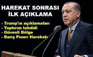 Cumhurbaşkanı Erdoğan'dan Harekat Sonrası İlk Açıklama