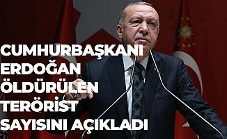 Cumhurbaşkanı Erdoğan Öldürülen Terörist Sayısını Açıkladı