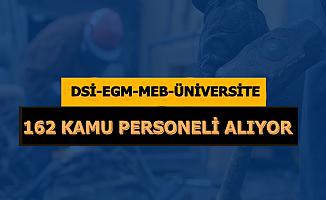 DSİ-EGM ve Diğer Kurumlara KPSS'siz 50 KPSS ile 162 Personel Alımı