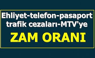 Ehliyet-MTV-Trafik Cezası-Pasaport Ücretlerine Zam Açıklaması