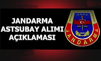 Jandarma Astsubay Alımı Açıklaması