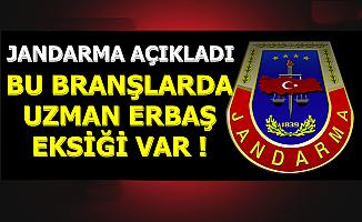 Jandarma'dan Uzman Erbaş Açıklaması: Bu Branşlarda Eksik Var