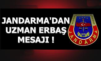Jandarma'dan Uzman Erbaş Temini Mesajı 2019