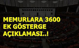 Meclis'te Öğretmen-İmam-Hemşire ve Polislere 3600 Ek Gösterge Açıklaması