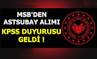 MSB Astsubay Alımı KPSS Duyurusu 2019