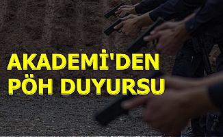 Polis Akademisi'nden PÖH Alımı Duyurusu 2019