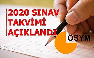 2020 ÖSYM Sınav Takvimi Açıklandı