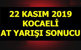22 Kasım 2019 Kocaeli At Yarışı Sonuçları