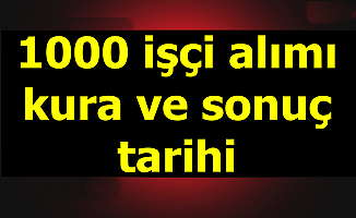 Aile, Çalışma ve Sosyal Hizmetler Bakanlığı 1000 İşçi Alımı Kura Çekimi-Sonuç Tarihi ve Nihai Liste