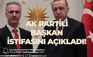 AK Parti'de İstifa ! Balıkesir İl Başkanı Ahmet Sağlam İstifa Ettiğini Açıkladı