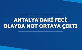 Antalya'daki Feci Olayda Babanın Notu Ortaya Çıktı (Siyanür Nedir, Zararları Nelerdir, Nerede Satılır?)