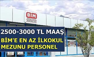Bim'e 2500-3000 TL Maaşla Personel Alımı-Türkiye Geneli 2019