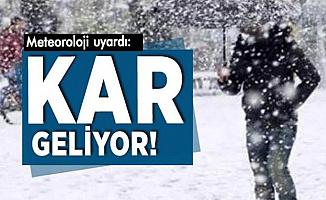 Birçok Şehre Kar Geliyor-İşte Hava Durumu
