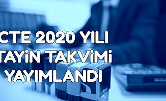 CTE 2020 Yılı Tayin Tarihleri Belli Oldu