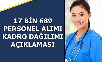 Fahrettin Koca 17 Bin 689 Sağlık Personeli Alımı Kadro Dağılımını Açıkladı