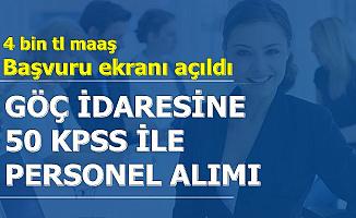 Göç İdaresi 50 KPSS ile Kamu Personeli Alımı Başvuru Ekranı Açıldı-4 Bin TL Maaş