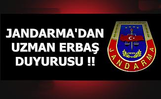 Jandarma'dan Asayiş-Komando Uzman Erbaş Duyurusu 2019
